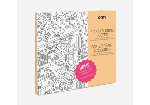 Omy OMY - Coloring Poster 100x70cm - Home