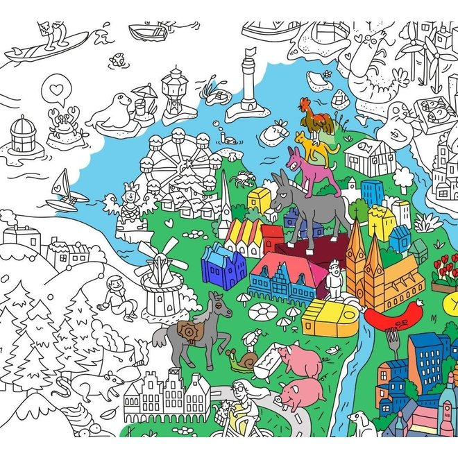 OMY - Coloring Poster 100x70cm - Germany