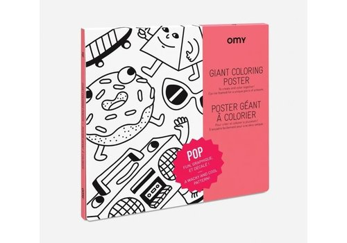 Omy OMY - Coloring Poster 100x70cm - Pop