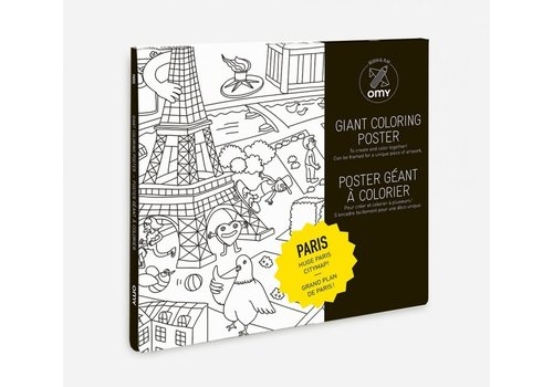 Omy OMY - Coloring Poster 100x70cm - Paris