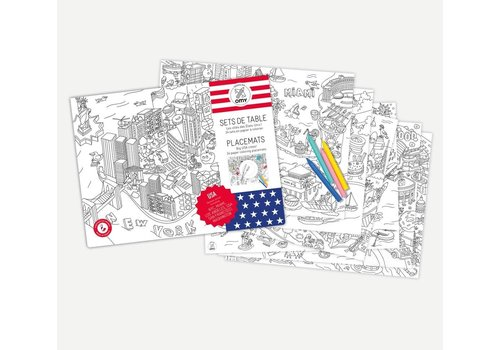 Omy OMY - Placemats - USA