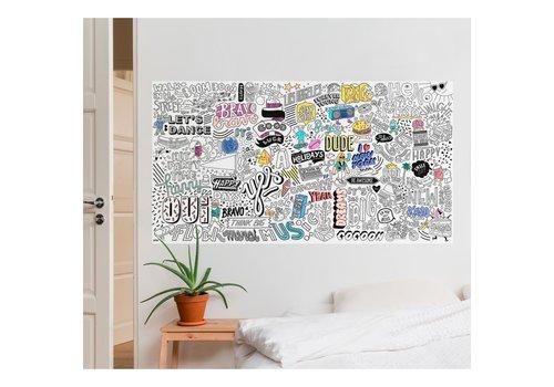 Omy OMY - Coloring poster XXL  180x97cm - Street Art