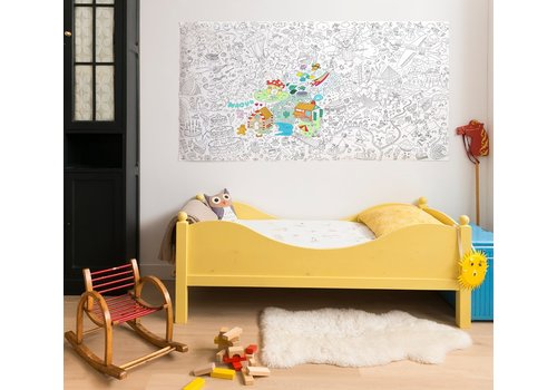 Omy OMY - Coloring poster XXL  180x97cm - Fantastic