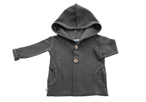BAMBOOM Hooded Cardigan - Antraciet