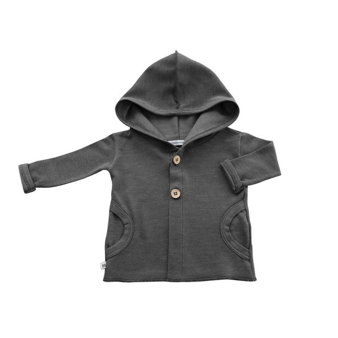 BAMBOOM - Hooded Cardigan - Antraciet