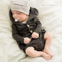 Hooded Cardigan - Antraciet