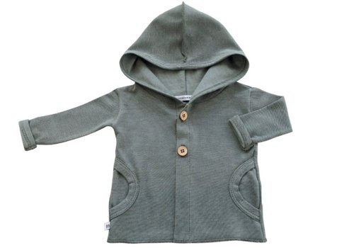BAMBOOM BAMBOOM - Hooded Cardigan - Olive Green
