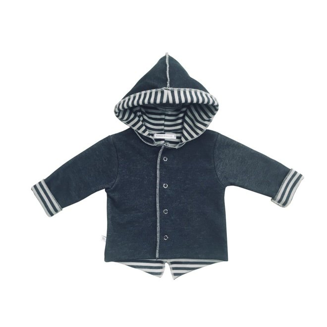 BAMBOOM - Hooded Jacket Doublesided - Antraciet/Grey
