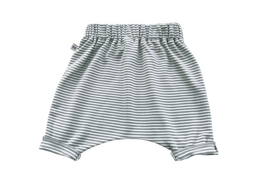 BAMBOOM BAMBOOM - Pants Summer - White/Grey Stripe