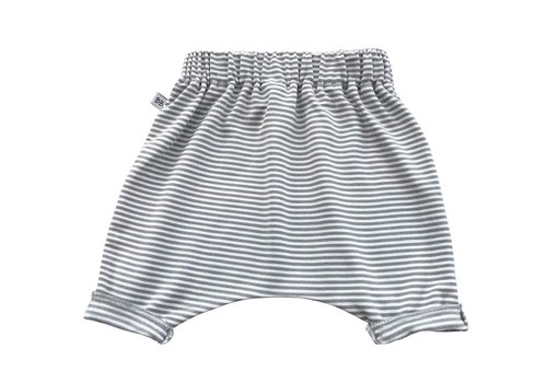 BAMBOOM BAMBOOM - Pants Summer - White/Olive Stripe