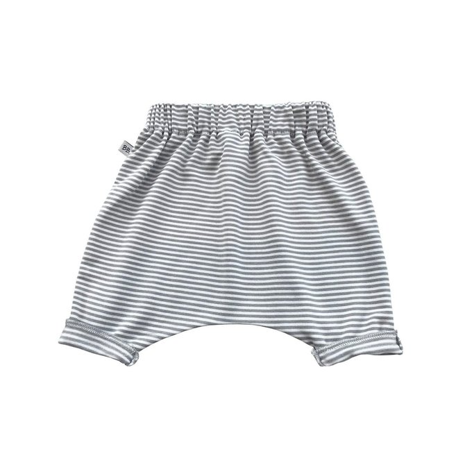BAMBOOM - Pants Summer - White/Olive Stripe