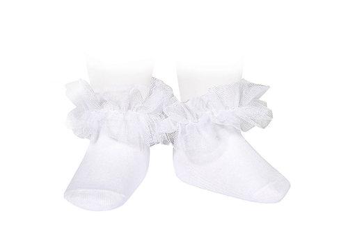 CONDOR CONDOR - Frill tull ankle socks (200)