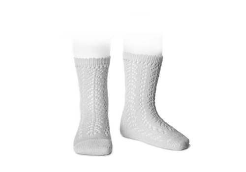 CONDOR CONDOR - Knee Socks metallic yarn openwork (213)