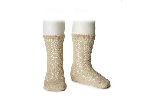 CONDOR CONDOR - Knee Socks metallic yarn openwork (313)
