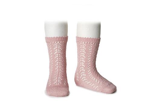 CONDOR CONDOR - Knee Socks metallic yarn openwork (544)