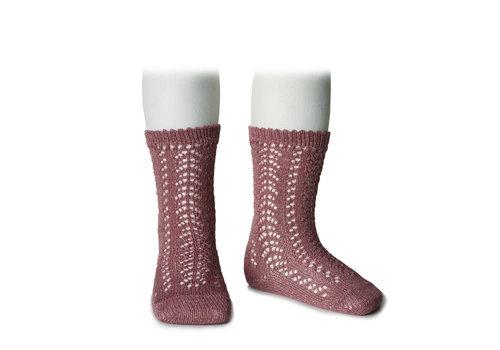 CONDOR CONDOR - Knee Socks metallic yarn openwork (670)