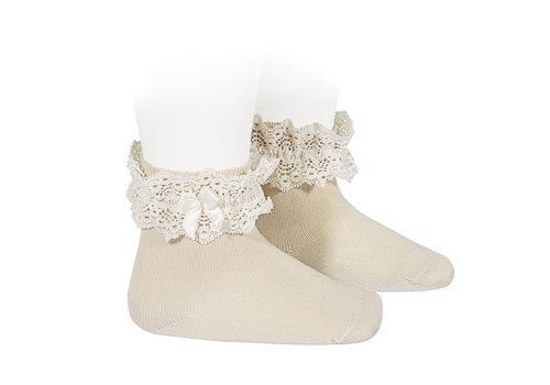 CONDOR CONDOR - Lace short socks with Bow (304)