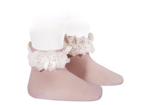 CONDOR CONDOR - Lace short socks with Bow (526)