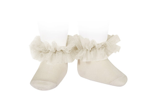 CONDOR CONDOR - Frill tull ankle socks (304)