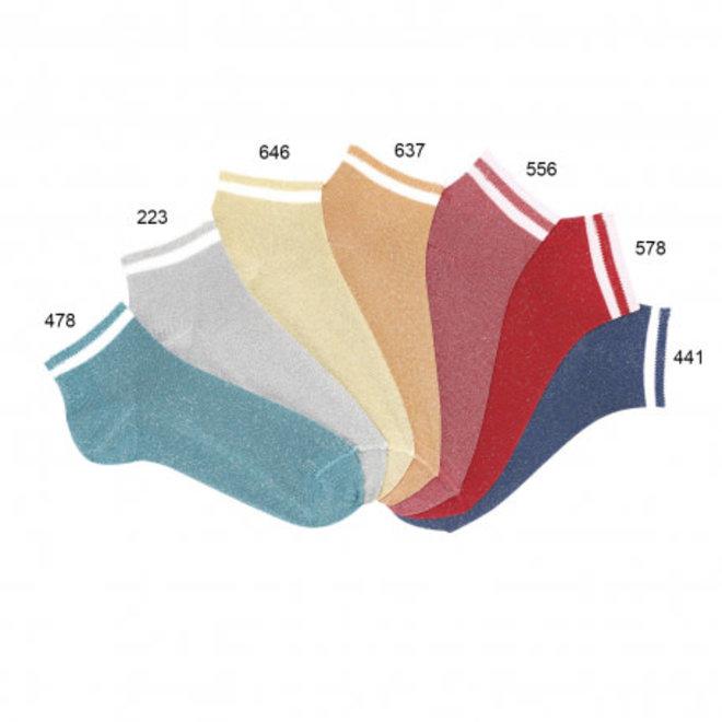 CONDOR - Enkelsokken met Glitter - Verschillende kleuren