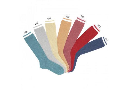 CONDOR CONDOR - Knee socks with metallic yarn