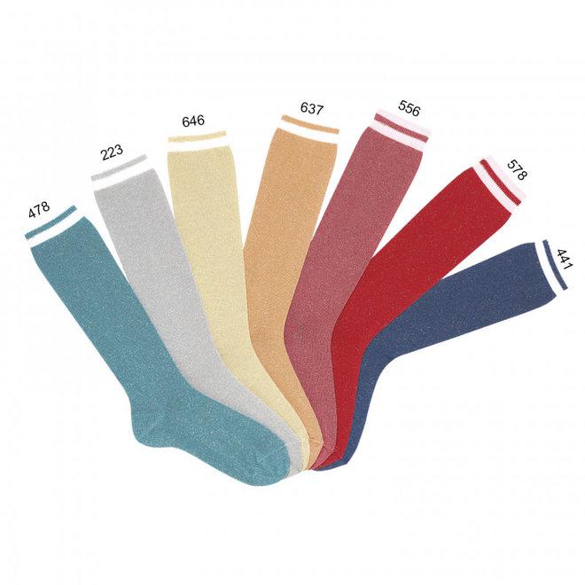 CONDOR - Kniesokken met Glitter - Verschillende kleuren