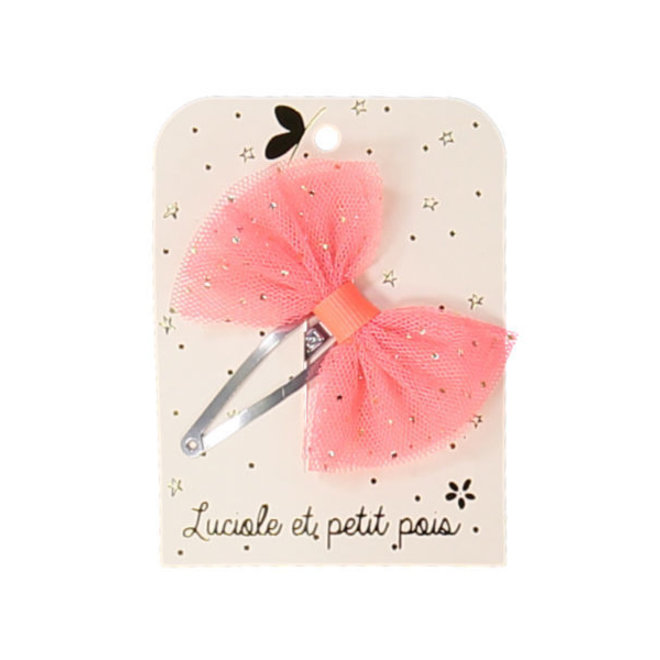 LUCIOLE ET PETIT POIS - Solo Haarspelden - Tutu Strik Neon Pink