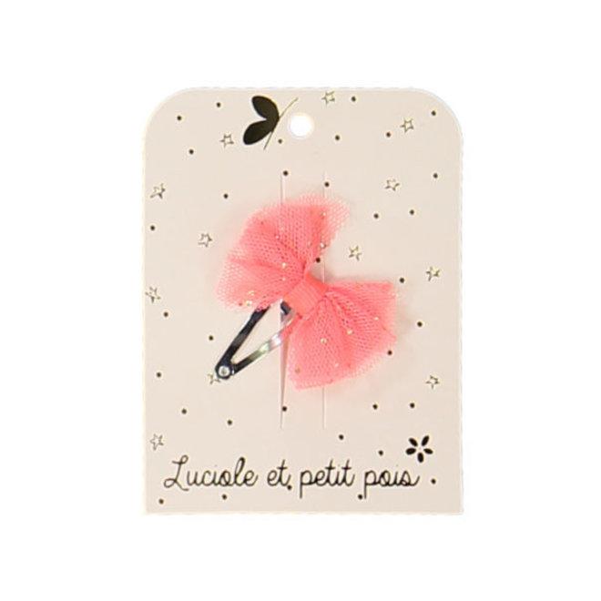 LUCIOLE ET PETIT POIS - Solo Haarspelden - Mini strik Neon Pink