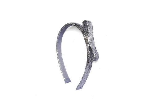 Luciole et Petit Pois LUCIOLE ET PETIT POIS - Haarband - Glitter Strik Zilver