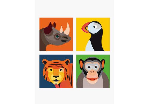 Studio Roof STUDIO ROOF - Magnets Wild Animals - Monkey