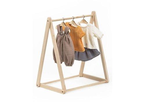 Minikane MINIKANE - Kleerkastje - Tipi Hout (3 hangers)