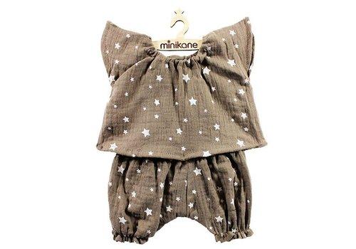 "Minikane MINIKANE - Pyjama set - Grijs Sterren ""Laura"""