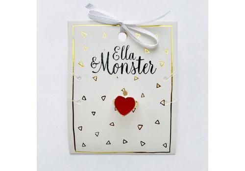Ella&Monster ELLA&MONSTER - Ring - Hart
