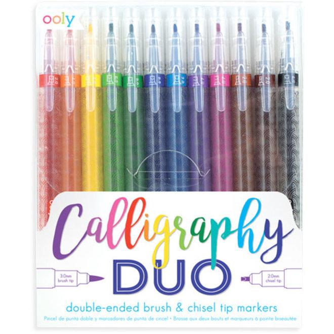 """OOLY - Viltstiften - Dubbelzijdige """"Calligraphy"""""""