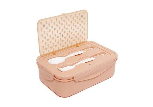PETIT MONKEY - Bento Lunchbox - Drops Peach