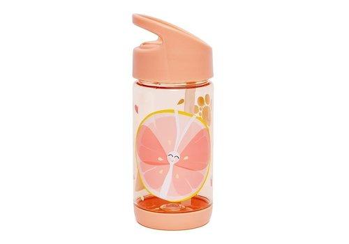 PETIT MONKEY - Drinkfles - Vlinder Peach