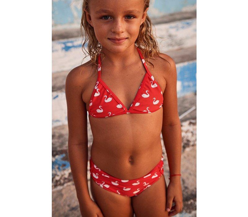 SHIWI - Triangle Bikini - Swanlake Flame Red