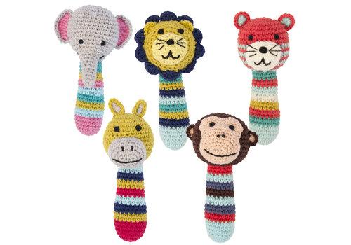 Global Affairs GLOBAL AFFAIRES -  Crochet Rattles Jungle