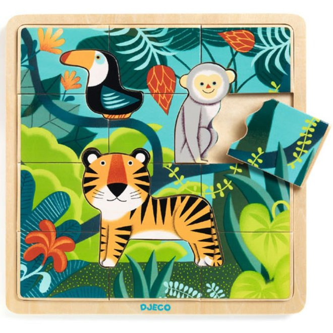 DJECO - Houten Puzzel - Jungle
