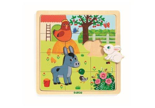 DJECO - Puzzel Bois - Farm