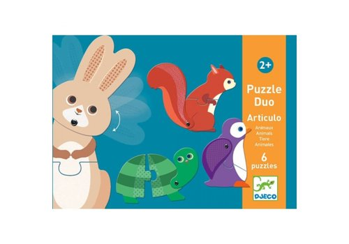 DJECO - Puzzel Duo - Articulo Animaux