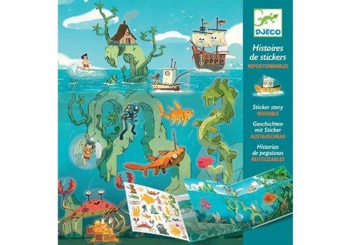 DJECO - Histoires de Stickers - Les aventures en mer