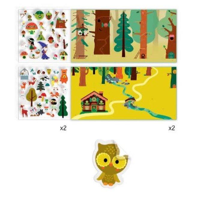 DJECO - Creatief met Stickers - Het Magische Bos