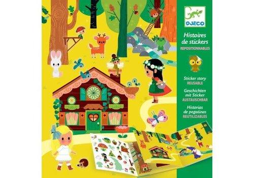 DJECO - Histoires de Stickers - La forêt magique