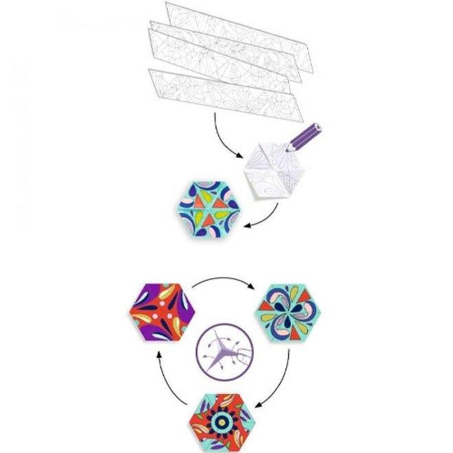 DJECO - Kleuren - Mandala's in Bloemvorm 6+