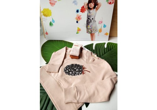 OUTLET - ANNE KURRIS - Sweater Powder Isa Berry - Maat 116/128/140