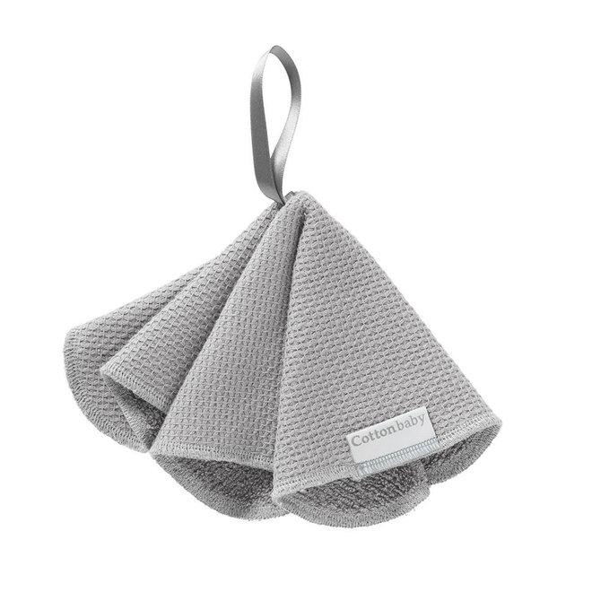 COTTON BABY - Speendoekje - Diamantwafel Grijs