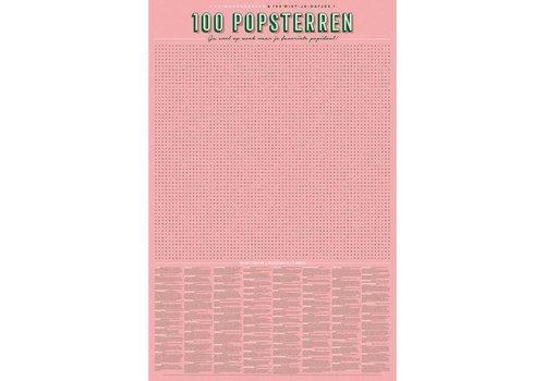 """Stratier STRATIER - XL-woordzoeker poster '100 Popsterren"""""""
