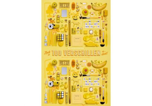 """Stratier STRATIER - XL-woordzoeker poster '100 Verschillen"""""""