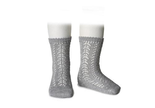 CONDOR CONDOR - Knee Socks metallic yarn openwork (221)